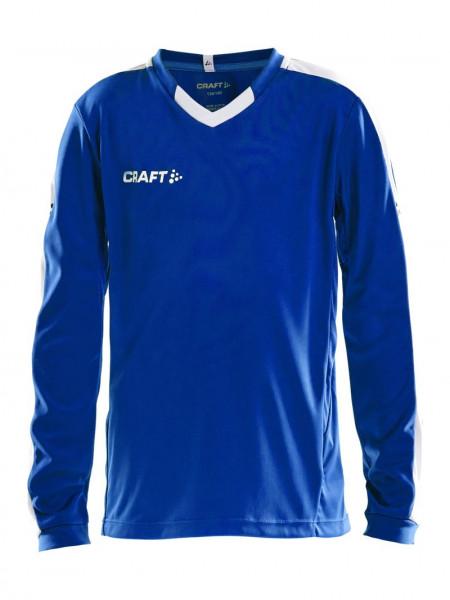 CRAFT Progress Jersey Contrast LS JR Club Cobolt
