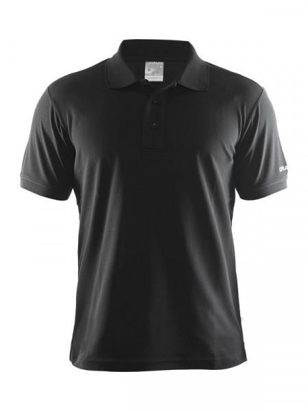 CRAFT Polo Shirt Pique Classic M Black
